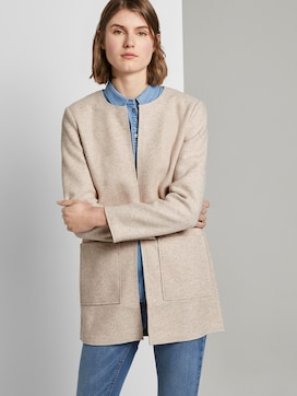 Soft long blazer without a collar - 5 - TOM TAILOR
