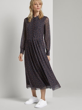 Patterned blouse dress in a midi length - 5 - Tom Tailor E-Shop Kollektion