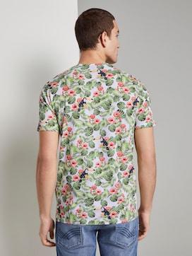 T-Shirt mit tropischem Allover-Print - 2 - TOM TAILOR