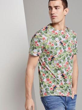 T-Shirt mit tropischem Allover-Print - 5 - TOM TAILOR