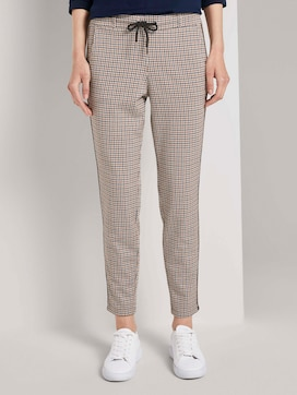 Checked loose-fit trousers - 1 - TOM TAILOR