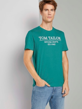 T-shirt met logo print - 5 - TOM TAILOR