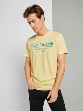 T-Shirt with a logo print - 5 - TOM TAILOR