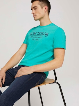 T-shirt met logo print - 5 - TOM TAILOR
