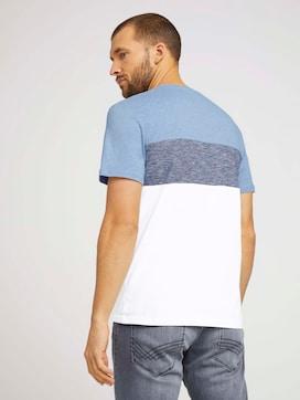 T-Shirt mit Blockstreifen und Brusttasche - 2 - TOM TAILOR