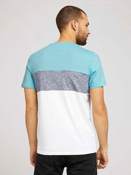 T-shirt with block stripes and chest pocket - 2 - TOM TAILOR