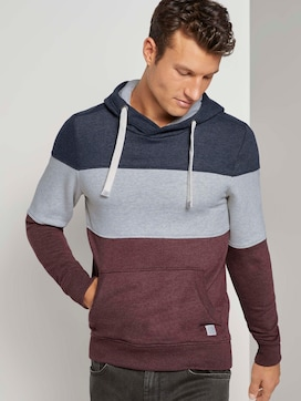 Hoodie with colourblocking stripes - 5 - TOM TAILOR