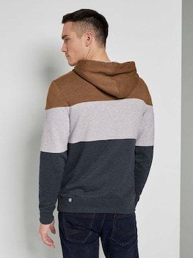 Hoodie with colourblocking stripes - 2 - TOM TAILOR
