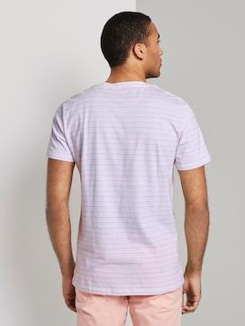 Jacquard-T-Shirt mit Streifenmuster - 2 - TOM TAILOR Denim