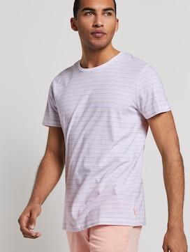 Jacquard-T-Shirt mit Streifenmuster - 5 - TOM TAILOR Denim