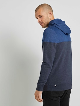 Sweatjacke mit Kapuze im Colorblocking - 2 - TOM TAILOR