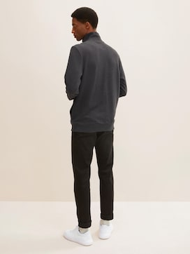 Sweat jacket with a stand-up collar - 2 - TOM TAILOR
