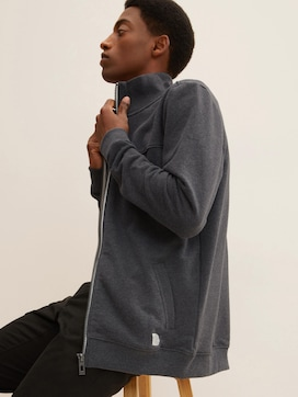 Sweat jacket with a stand-up collar - 5 - TOM TAILOR