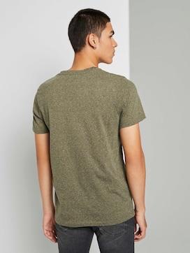 Meliertes T-Shirt mit V-Ausschnitt - 2 - TOM TAILOR Denim