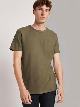 Strukturiertes T-Shirt mit Brusttasche - 5 - TOM TAILOR Denim