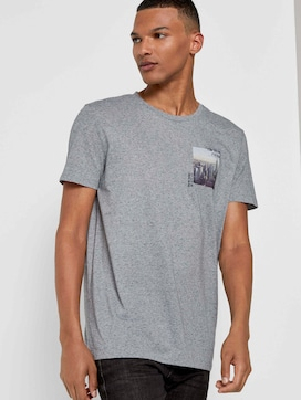 Meliertes T-Shirt mit Fotoprint - 5 - TOM TAILOR Denim