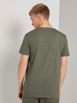 Meliertes T-Shirt mit Fotoprint - 2 - TOM TAILOR Denim