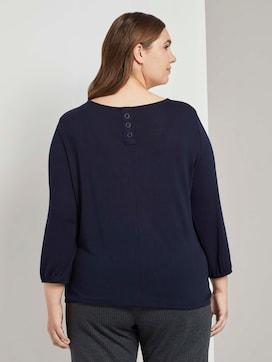 Losse overhemd met elastische tailleband - 2 - Tom Tailor E-Shop Kollektion