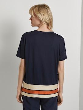 T-shirt with a striped hem - 2 - Tom Tailor E-Shop Kollektion