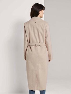 Long coat with a tie belt - 2 - TOM TAILOR