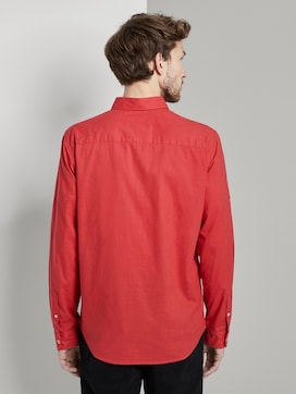 Shirt with a buttoned welt pocket - 2 - TOM TAILOR
