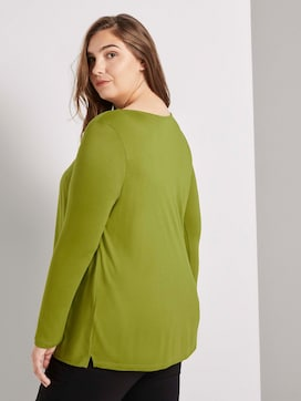 Long-sleeved top with pleated details - 2 - My True Me