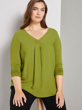 Long-sleeved top with pleated details - 5 - My True Me