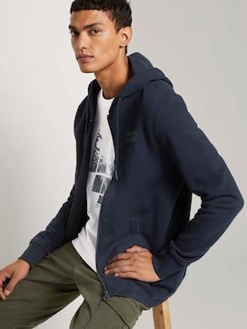 Sweatshirt met hoodie met kleine print - 5 - TOM TAILOR Denim