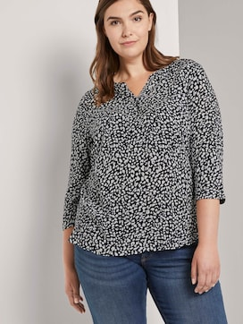 Patterned Henley blouse - 5 - My True Me