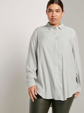 Striped long blouse with turn-ups - 5 - My True Me
