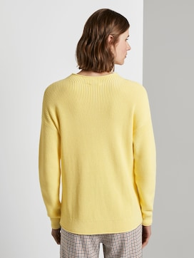 Ribbed jumper with a stand-up collar - 2 - TOM TAILOR
