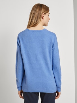 Sweater with a V-neckline - 2 - TOM TAILOR