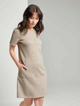 Kurzarm-Kleid mit Taschen - 5 - TOM TAILOR