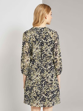 Chiffon dress with a floral print - 2 - TOM TAILOR