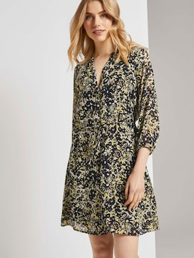 Chiffon dress with a floral print - 5 - TOM TAILOR