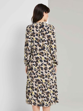 Printed dress with ruffles - 2 - TOM TAILOR