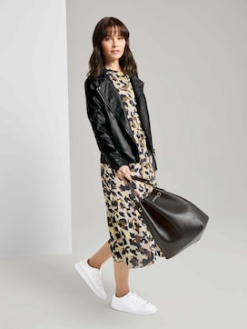 Printed dress with ruffles - 5 - TOM TAILOR