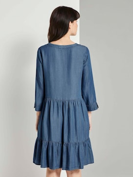 Tencel Denim Jurk met Ruches - 2 - TOM TAILOR