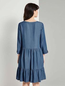 Tencel denim dress with flounce - 2 - TOM TAILOR
