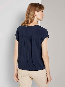 Henley blouse met elastische tailleband - 2 - TOM TAILOR