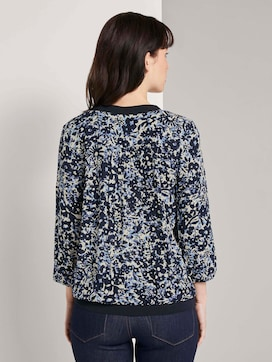Printed blouse with tape details - 2 - TOM TAILOR