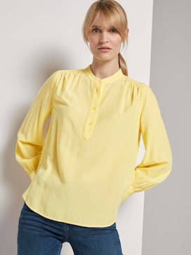 Blouse with a short stand-up collar - 5 - TOM TAILOR