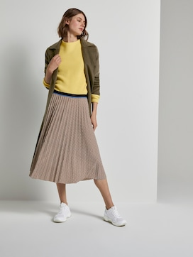 Checked pleated midi skirt - 3 - TOM TAILOR