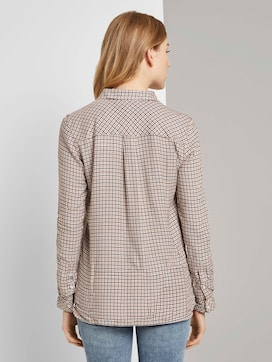Geruite blouse met omslag - 2 - TOM TAILOR