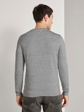 Basic sweater in a melange look - 2 - TOM TAILOR