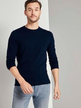 Basic Pullover in Mélange-Optik - 5 - TOM TAILOR