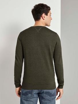 Basic Pullover in Mélange-Optik - 2 - TOM TAILOR