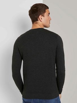 Pullover with a textured pattern - 2 - TOM TAILOR