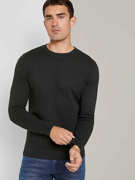 Pullover with a textured pattern - 5 - TOM TAILOR