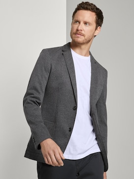 Jersey jacket with a fine houndstooth pattern - 5 - TOM TAILOR